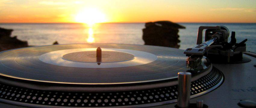 DJ Record player on Cable Beach