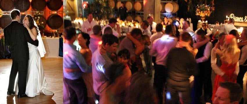 Party Slow Dancing at Winery