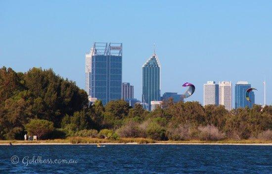 View of Perth from Acqua Viva
