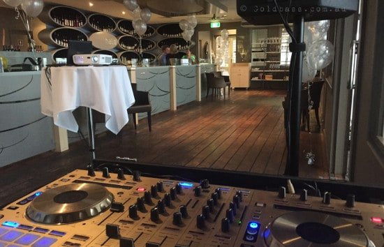 Pioneer DDJ SX Gold player setup at Corporate DJ Event
