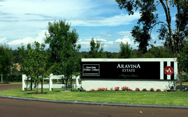 Entrance to Aravina Estate in Margaret River