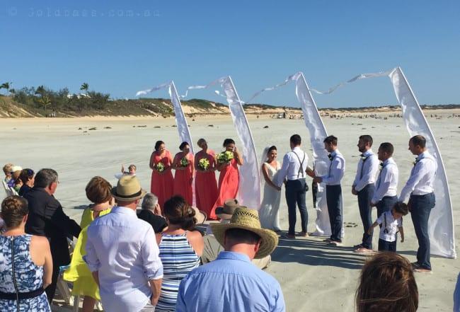 Cable Beach Wedding Ceremony