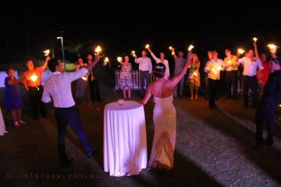 Wedding sparkler farewells