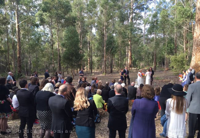 Wedding couple at Donnelly River