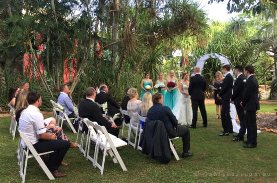 Wedding Ceremony in the Lilypond Gardens