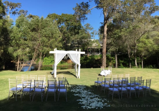 Flutes Restaurant Margaret River Wedding Ceremony