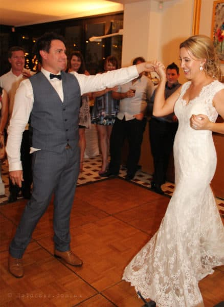 Jenna & Clark first dance during their wedding reception held at Zafferno Restaurant