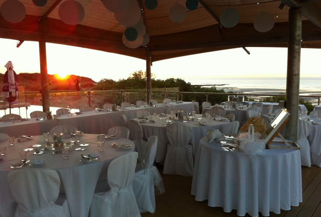 Eco Beach Wedding Reception