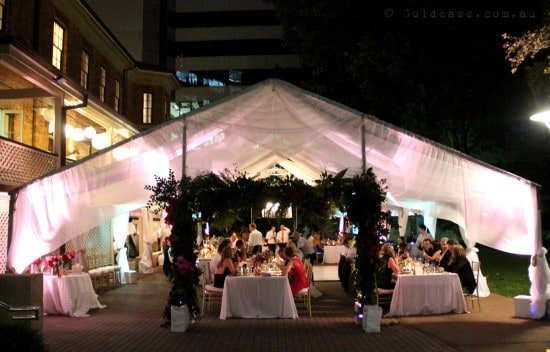 Wedding Marquee Uplighting in Perth City