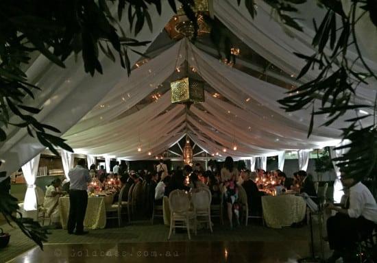 Dance floor view of Uplighting