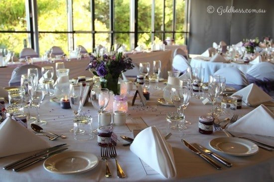 Wedding table layout at the Mandurah Quay Resort
