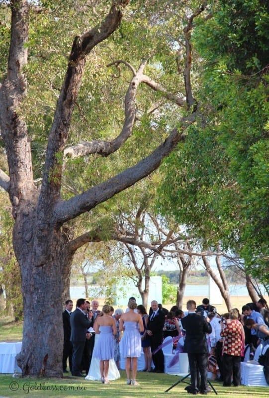 Outdoors ceremony at the Mandurah Quat Resort