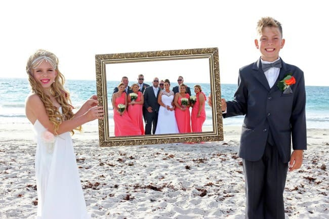 Natalie & Mitch wedding ceremony out front of Salt on the Beach