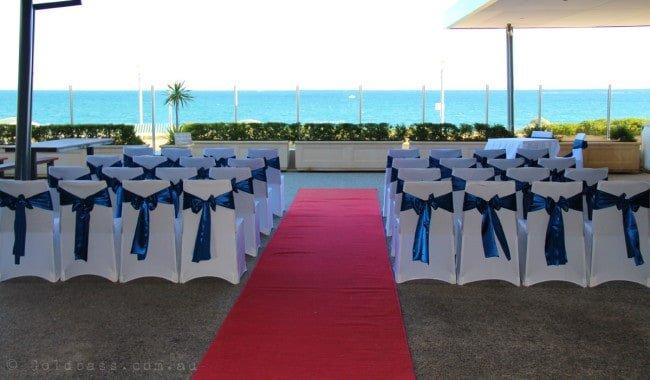 Portofinos Wedding Ceremony Setup