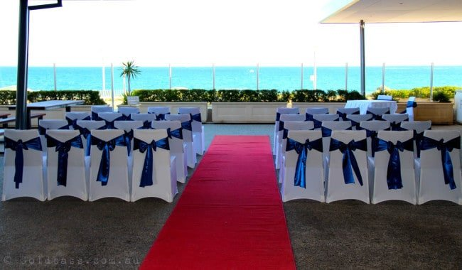 under cover wedding ceremony venue in Perth at Mindarie