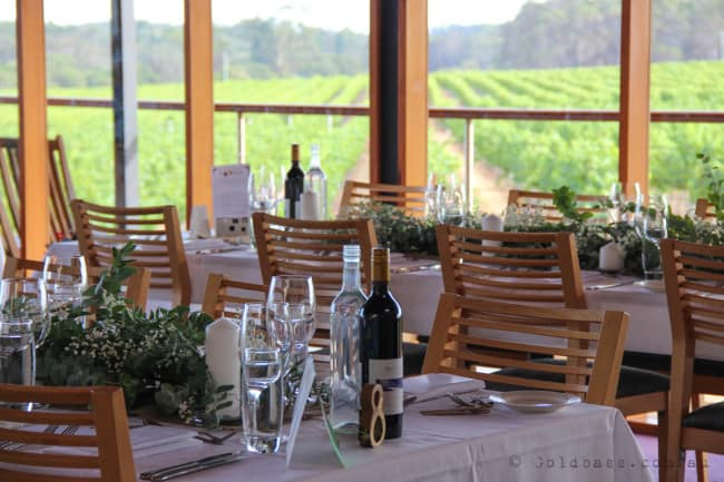 Table setting at Watershed Wines in Margaret River